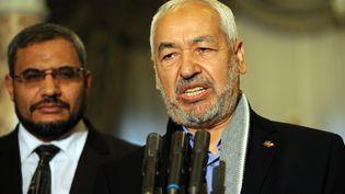 Rached Ghannouchi, le président du parti islamiste Ennahda, le 20 février 2013 à Tunis (Tunisie). (FETHI BELAID / AFP)