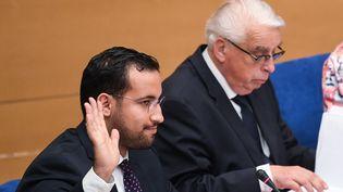 Alexandre Benalla devant la commission d'enquête du Sénat, le 19 septembre 2018. (ALAIN JOCARD / AFP)