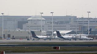 L'aéroport de Bruxelles-Zaventem (Belgique), touché par un attentat le 22 mars 2016. (DIRK WAEM / BELGA / AFP)