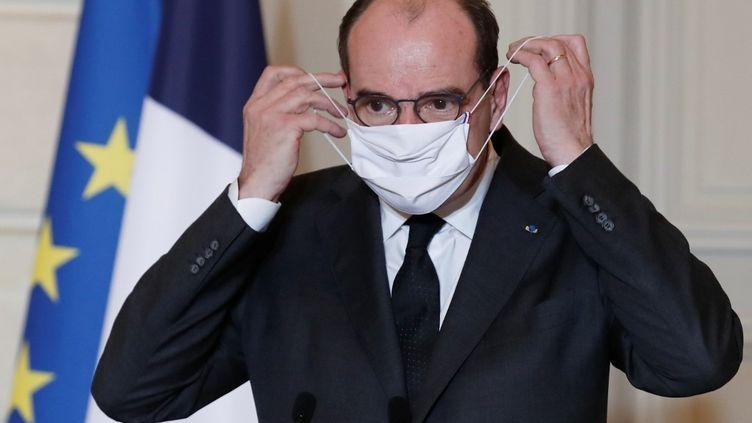 Jean Castex, le 29 janvier 2021, au palais de l'Elysée. (BENOIT TESSIER / POOL)