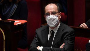 Le Premier ministre Jean Castex, le 1erdécembre 2020, à l'Assemblée nationale. (ALAIN JOCARD / AFP)