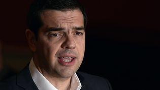 Le Premier ministre grec Alexis Tsipras, à Athènes (Grèce), le 25 mars 2015. (LOUISA GOULIAMAKI / AFP)