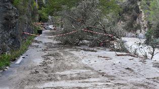 Des dégâs causés par la tempête Alex àBreil-sur-Roya (Alpes-Maritimes), le 4 octobre 2020. (LIONEL URMAN/SIPA)