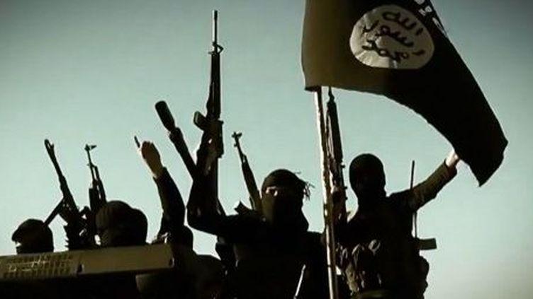Image de combattants de l'Etat islamique d'Irak et du Levantprise à partir d'une vidéo de propagande, publiée le 17 mars 2014. ( AFP PHOTO / HO / AL-Furqan MEDIA)