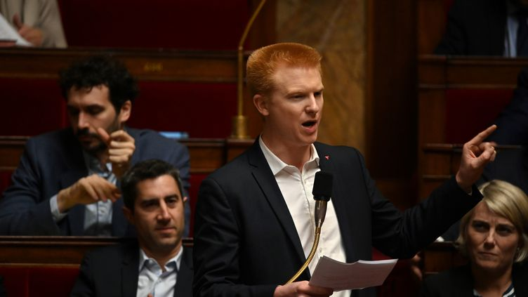 Adrien Quatennens, député La France insoumise, à l'Assemblée nationale, le 10 décembre 2019. Illustration. (DOMINIQUE FAGET / AFP)