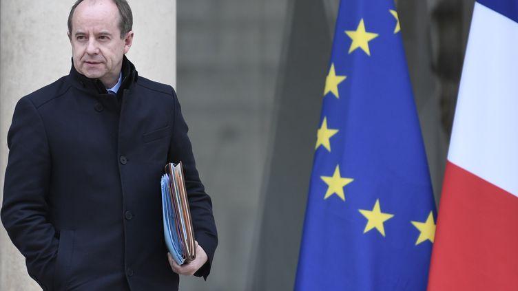L'ancien ministre de la Justice, Jean-Jacques Urvoas, le 15 mars 2017 à l'Elysée. (STEPHANE DE SAKUTIN / AFP)