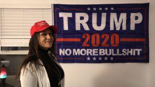 Chelsea Marie à son domicile dans le nord-ouest de la Floride (Etats-Unis), le 14 janvier 2021. (VALENTINE PASQUESOONE / FRANCEINFO)