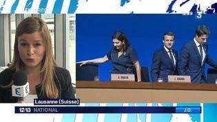 Mardi 11 juillet, la délégation française passait le grand oral devant le CIO. Céline Cabral est en direct de Lausanne (Suisse). (FRANCE 3)