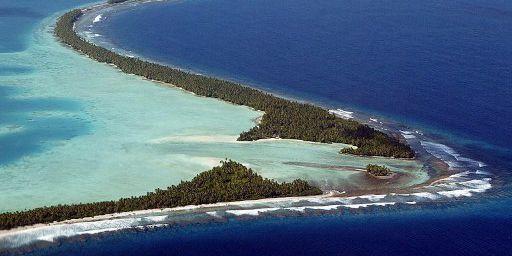 L'archipel des Tuvalu, menacé par la montée des eaux. (AFP PHOTO / TORSTEN BLACKWOOD)