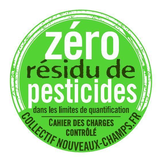 """Le logo dunouveau label""""zéro résidus de pesticides"""". (COLLECTIF NOUVEAUX CHAMPS)"""