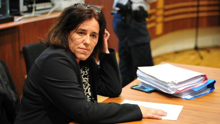 Rosa-Maria Da Cruz, la mère de la petite Séréna, lors de l'ouverture de son procès à Tulle (Corrèze),le 12 novembre 2018. (MAXPPP)