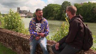 Mohammed,un des hommes qui ont permis d'interpeller un homme suspecté d'être l'auteur d'une agression mortelle survenue le 10 juillet 2021 àClaye-Souilly(Seine-et-Marne). (CAPTURE ECRAN FRANCE 2)