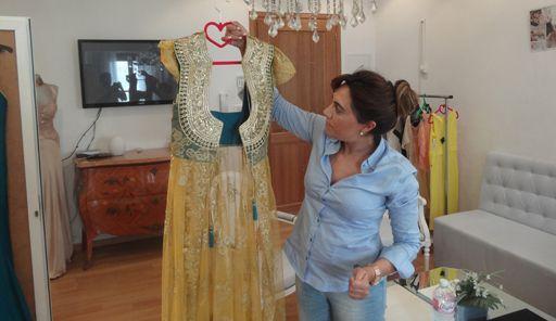 Mouna Ben Braham avec une robe...«à la Marie-Antoinette». (FTV)