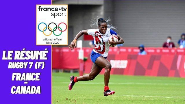 Pour son troisième match de poule, l'équipe de France de rugby à 7 féminine s'impose largement 31-0 face au Canada. Premières de leur groupe, les Bleues viseront la médaille à partir des quarts de finale.