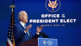 Le président élu Joe Biden s'adresse aux Américains depuis Wilmington, dans le Delaware, le 9 novembre 2020. (ANGELA WEISS / AFP)