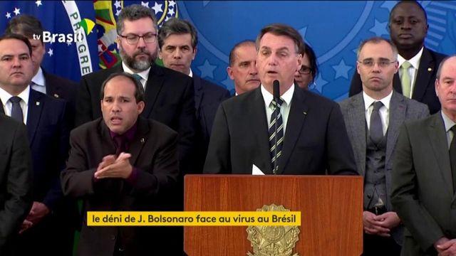 Coronavirus : Jair Bolsonaro ne veut pas voir le virus en face