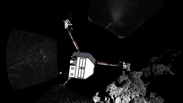 (Philae sur la comète Tchouri © ESA/Rosetta/Philae/CIVA)