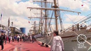 Une passante lors de l'Armada. (France 2)