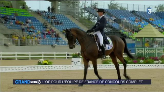 JO 2016 : les cavaliers français décrochent la première médaille d'or française