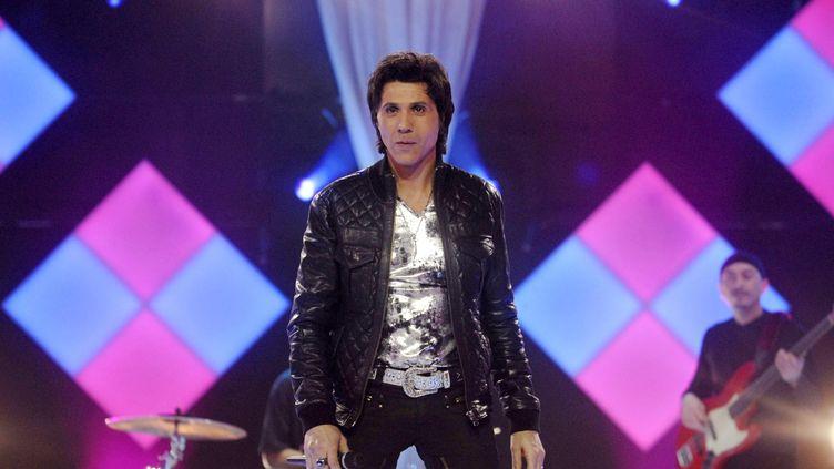 Le chanteur Jean-Luc Lahaye, lors d'une émission hommage à Claude François, sur la chaîne belge RTL, le 22 février 2008. (BELGA MAG / AFP)