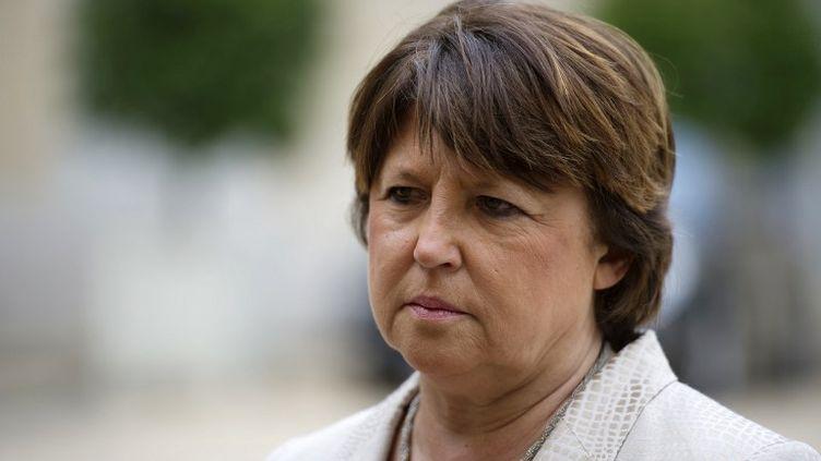 La maire PS de Lille, Martine Aubry, le 25 juin 2013 à l'Elysée, à Paris. (FRED DUFOUR / AFP)