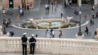 La Piazza di Spagna dans le centre de Rome en Italie, le 17 mai 2020. (ANDREAS SOLARO / AFP)