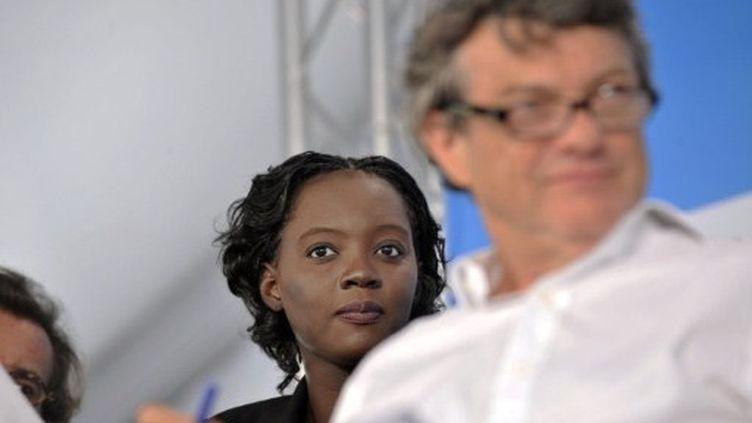 Rama Yade et Jean-Louis Borloo à La Grande-Motte, le 10 septembre 2011. (SYLVAIN THOMAS/AFP)
