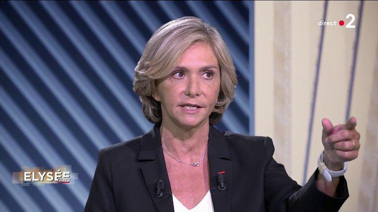 """La présidente de la région Ile-de-France Valérie Pécresse dans l'émission """"Elysée 2022"""" sur France 2, le 23 septembre 2021. (FRANCE 2)"""