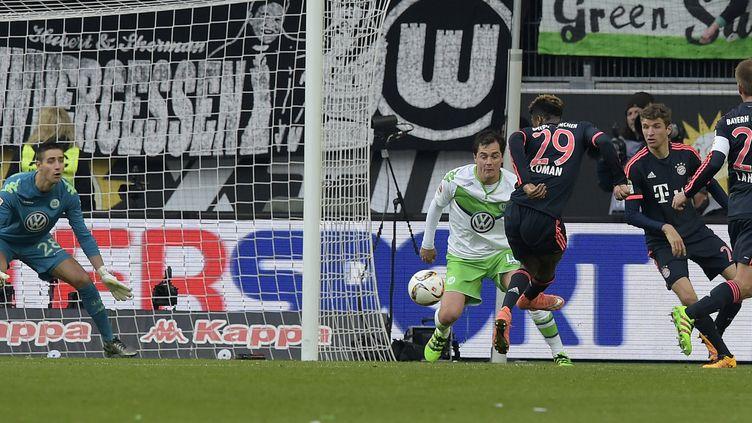 Kingsley Coman a ouvert le score pour le Bayern  (TOBIAS SCHWARZ / AFP)
