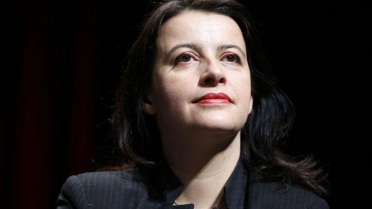 Cécile Duflot, alors ministre du Logement, à Cergy-Pontoise (Val-d'Oise) le 24 janvier 2014. (THOMAS SAMSON / AFP)