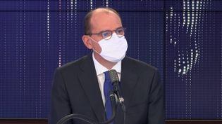 Le Premier ministre, Jean Castex, sur le plateau de franceinfo, le 12 octobre 2020, à Paris. (FRANCEINFO)