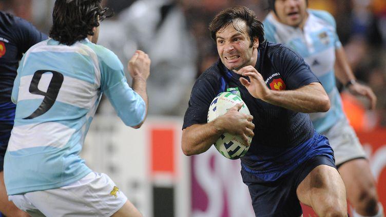 Dominici sous les couleurs du XV de France lors de la Coupe du monde 2007. (MARTIN BUREAU / AFP)