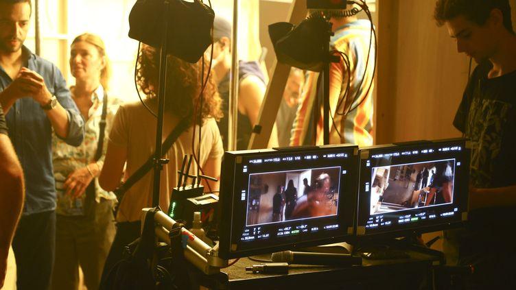 "Tournage du film ""Menteur"" d'Olivier Baroux, aux studios de la Victorine à Nice. (MANDOGA MEDIA/SIPA USA/SIPA / SIPA USA)"