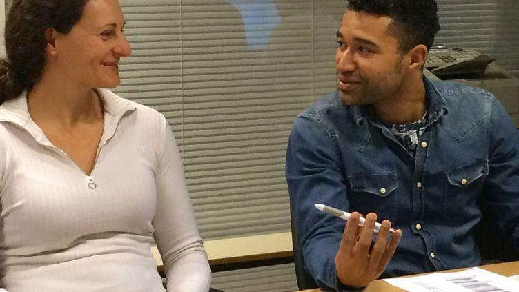 Mélina Robert-Michon rédactrice en chef de Tout le Sport avec Haron Tanzit