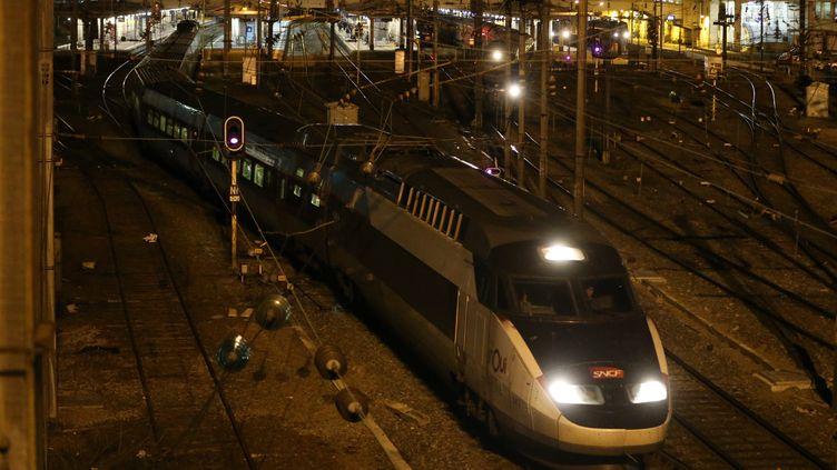 """Le collectif """"Oui aux trains de nuit espère l'ouverture de 'espoir est d'ouvrir 15 liaisons nationales et 15 autres internationales à horizon 2030... (JEAN-FRANÇOIS FREY / MAXPPP)"""