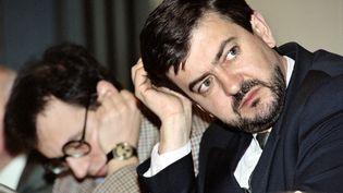 Jean-Luc Mélenchon en 1992 à Paris. (FRANCOIS XAVIER MARIT / AFP)