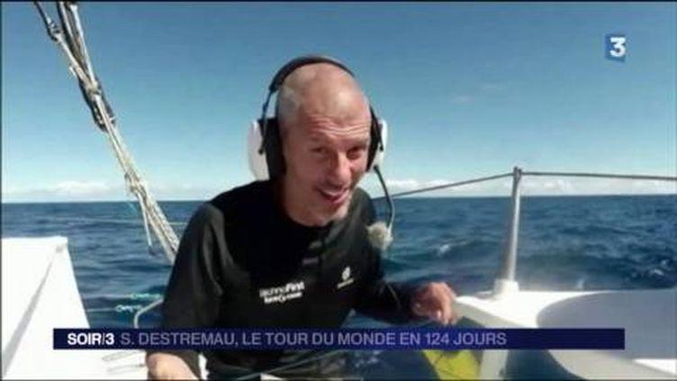 Sébastien Destremau a navigué seul pendant 124 jours. (FRANCE 3)