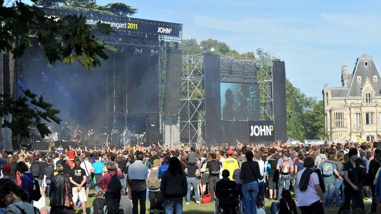 Le festival Beauregard en 2011 lors du concert de Gaëtan Roussel  (Marc Ollivier/MAXPPP/PHOTOPQR/OUEST FRANCE)