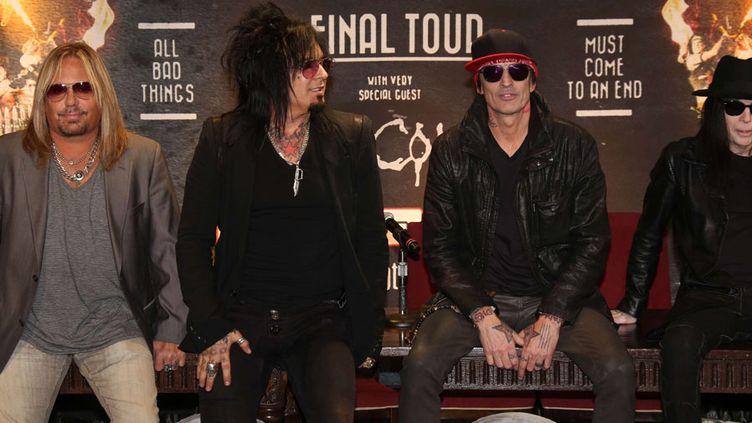 """Mötley Crüe annonce sa séparation après une """"tournée finale"""" (27 janvier 2014)  (David Edwards / Newscom / SIPA)"""