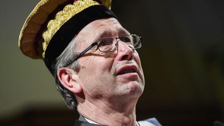 Thomas Ebbesenlors d'une cérémonie à l'université de Louvain-la-Neuve (Belgique), le 2 février 2018. (LAURIE DIEFFEMBACQ / BELGA MAG / AFP)