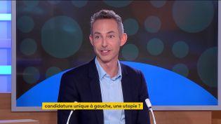 Ian Brossat,directeur de campagne du candidat du Parti Communiste (PC) Fabien Roussel, jeudi 7 octobre sur la chaîne franceinfo. (FRANCEINFO)