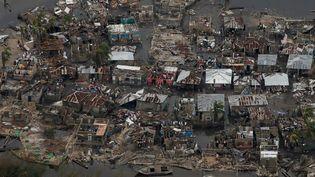 Le village de Corail, à Haïti, ravagépar le passage de l'ouragan Matthew, le 6 octobre 2016. (CARLOS GARCIA RAWLINS / REUTERS)