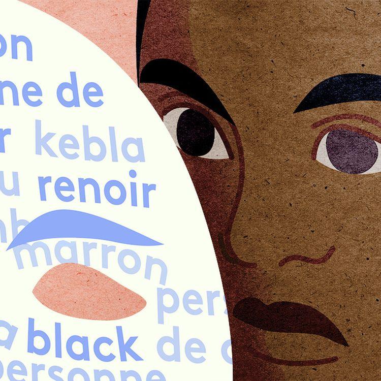 """Plus d'une vingtaine de synonymes sont employés en France pour éviter le mot """"noir"""". (JESSICA KOMGUEN / FRANCEINFO)"""