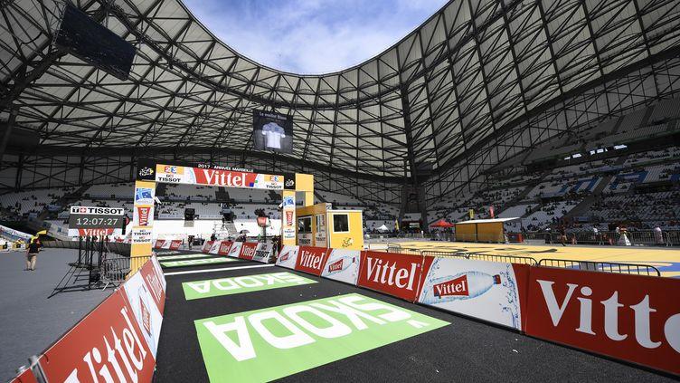 Le stade Vélodrome de Marseille, théâtre majestueux de la 20e étape du Tour de France 2017. (YORICK JANSENS / BELGA MAG)