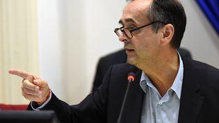 Robert Ménard, le 18 octobre 2016, lors d'un conseil municipal à Béziers (Hérault). (SYLVAIN THOMAS / AFP)