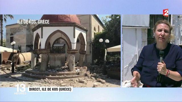 Séisme : l'île de Kos abasourdie par la violence des secousses