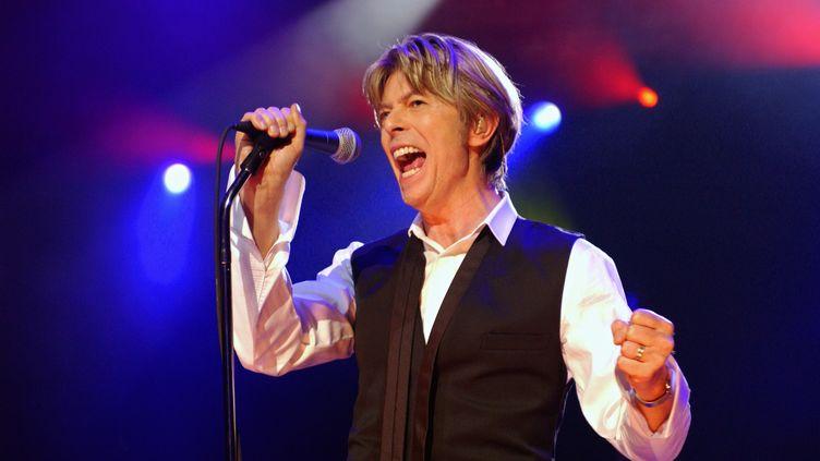 David Bowie sur scène à Paris, le 1er juillet 2002. (BERTRAND GUAY / AFP)