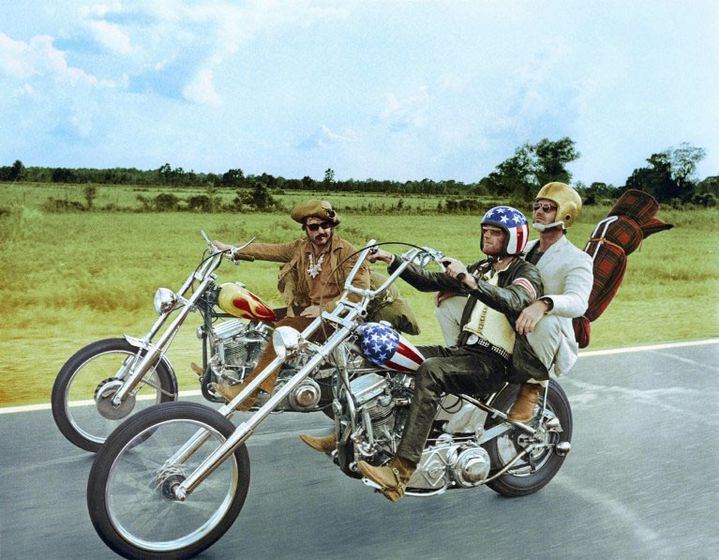 "Peter Fonda, Dennis Hopper et Jack Nicholson dans ""Easy Rider"" (1969) de Dennis Hopper  (Screen Prod / Photononstop)"