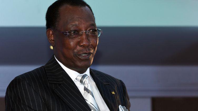 Le président tchadien Idriss Deby, le 16 décembre 2014 à Dakar (Sénégal). (SEYLLOU / AFP)