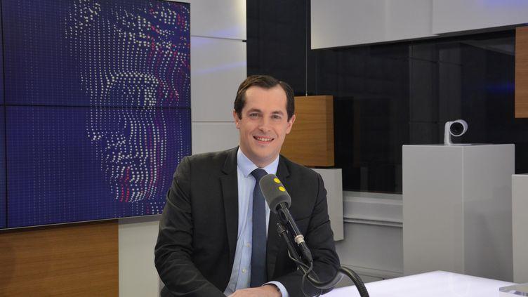 Nicolas Bay, vice-président du FN. (JEAN-CHRISTOPHE BOURDILLAT / RADIO FRANCE)